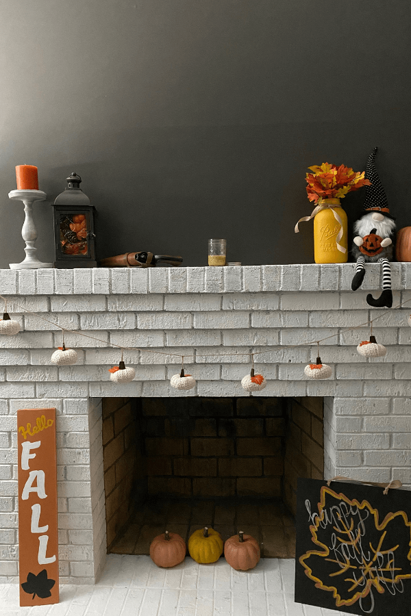 Fall Decorated Mantle