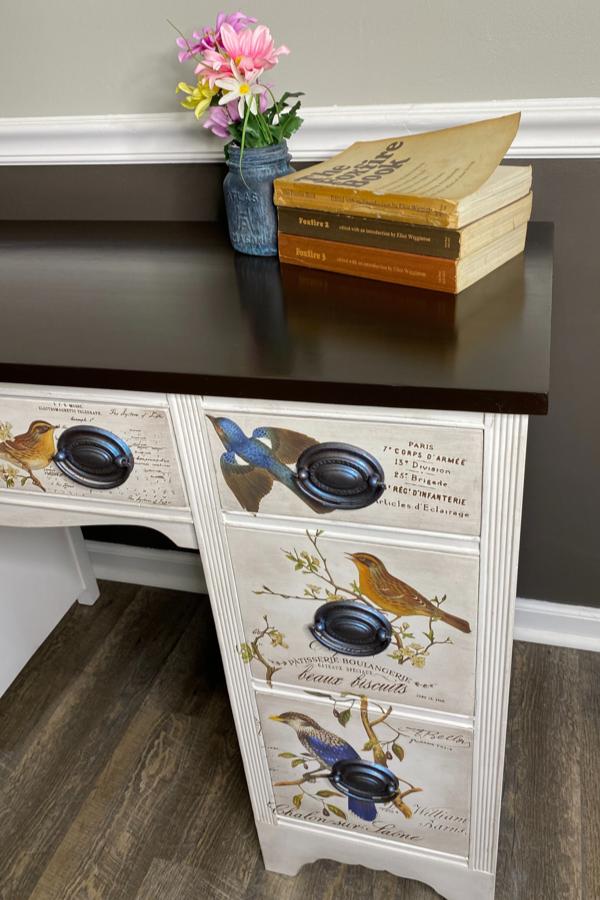Final project finished vintage desk makeover
