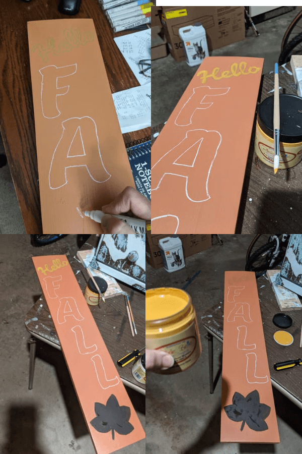DIY Fall Painted Signs
