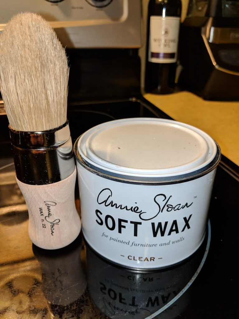 Annie Sloan Soft Wax in Clear and Wax Brush: How to Chalk Paint