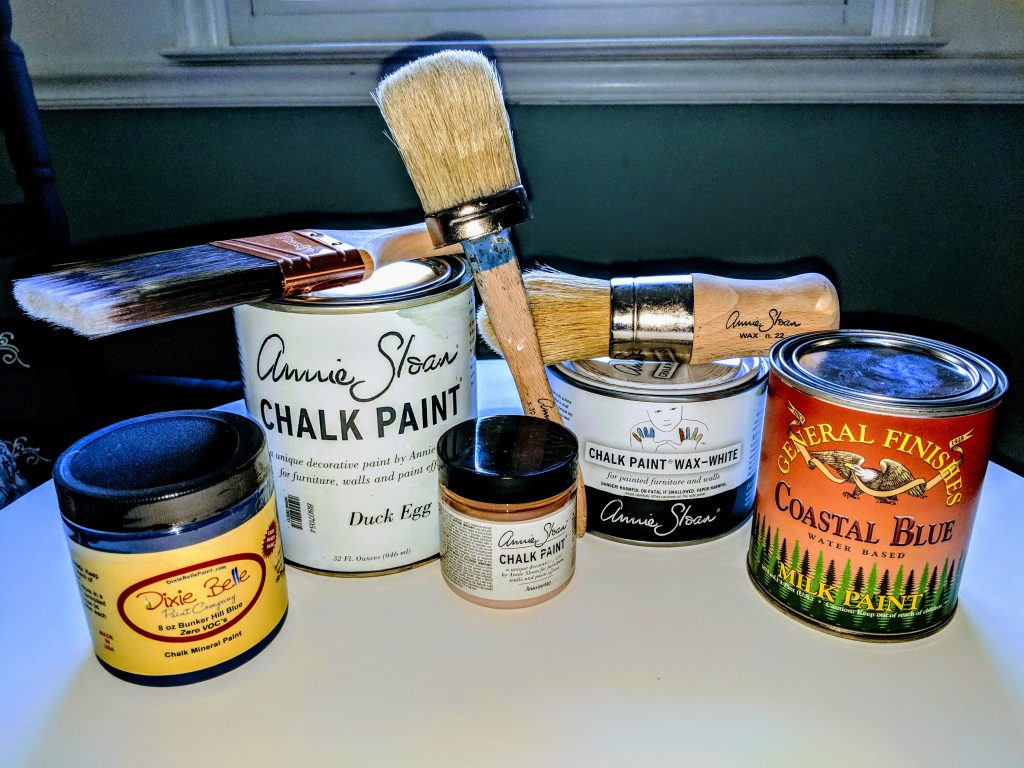 Assortment of Brushes and Paints