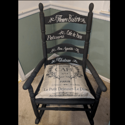 Antique Rocker Painted and Stenciled