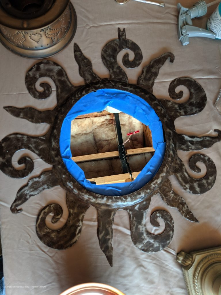 how to use patina paint on metal picture frame