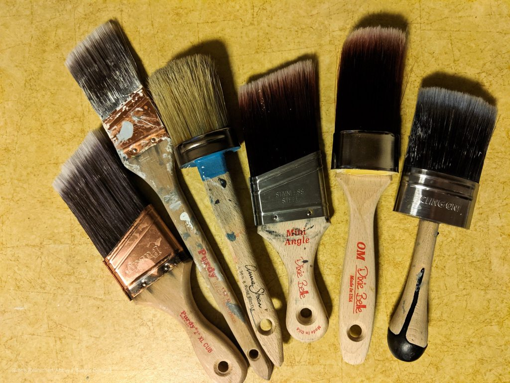 my favorite brushes for chalk paint