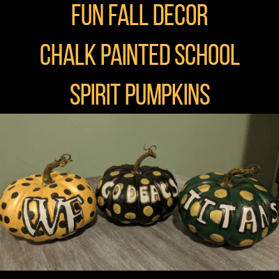 Fun Fall Decor: Chalk Painted Pumpkins