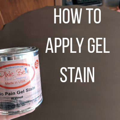How To Apply Gel Stain