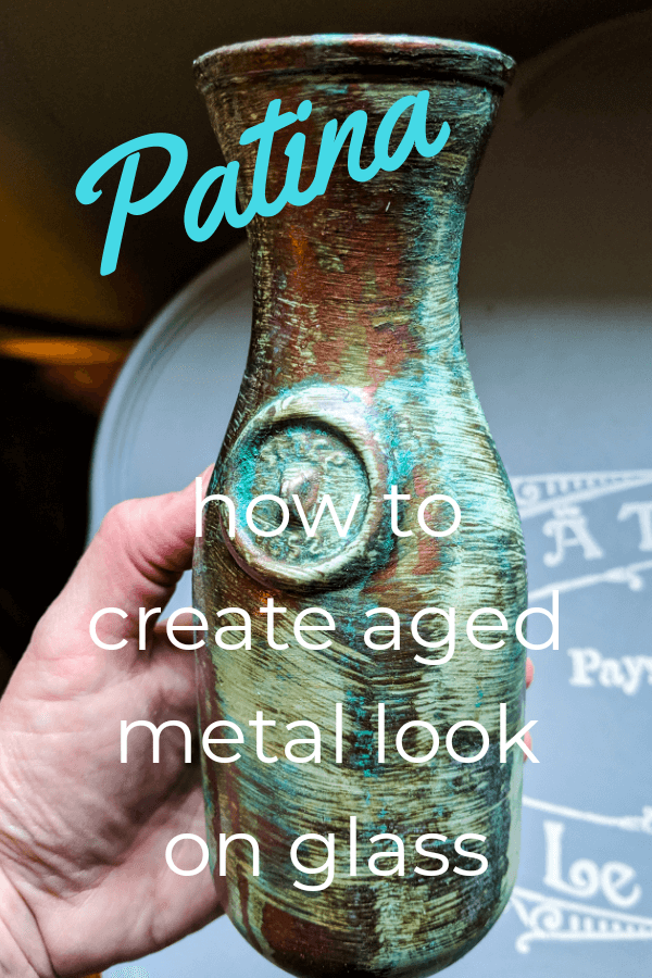 How To Patina Paint Glass Decor