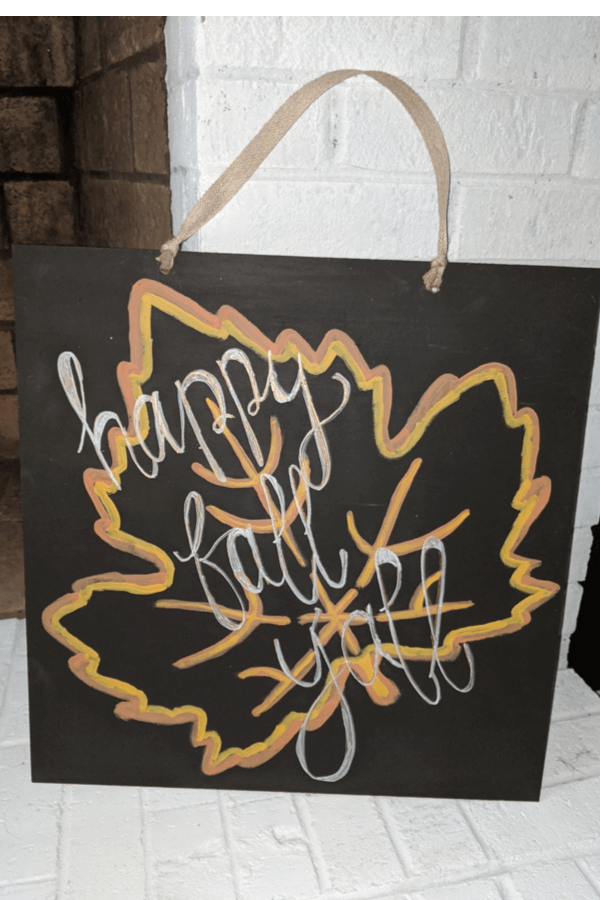 DIY Fall Painted Leaf Tracing Sign