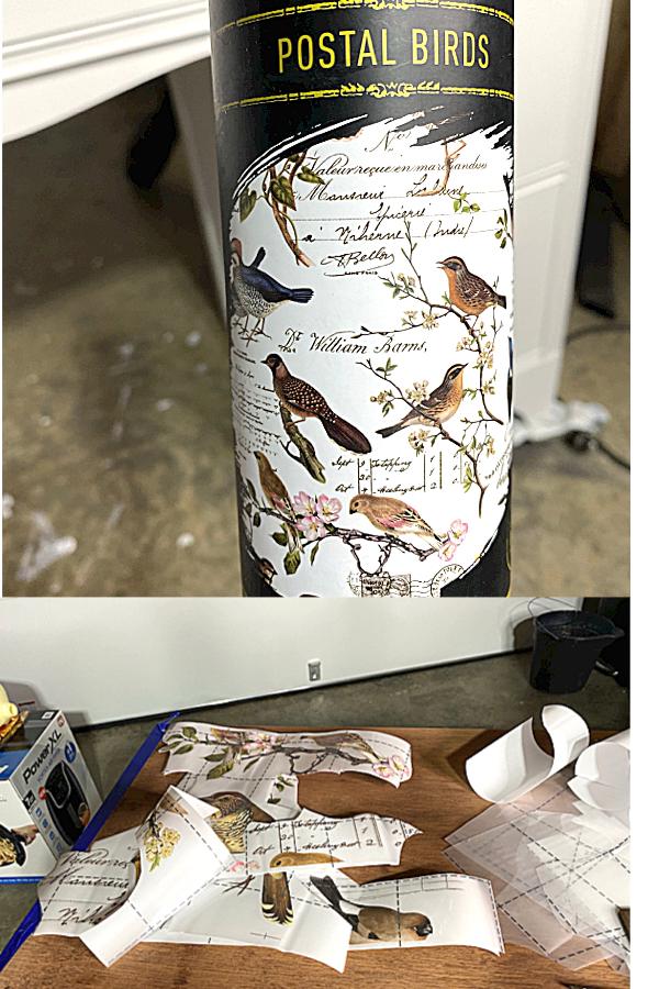 Redesign With Prima transfer Postal Birds