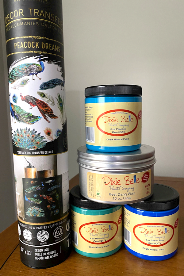 Supplies: Dixie Belle Paints and Peacock Dreams Transfer
