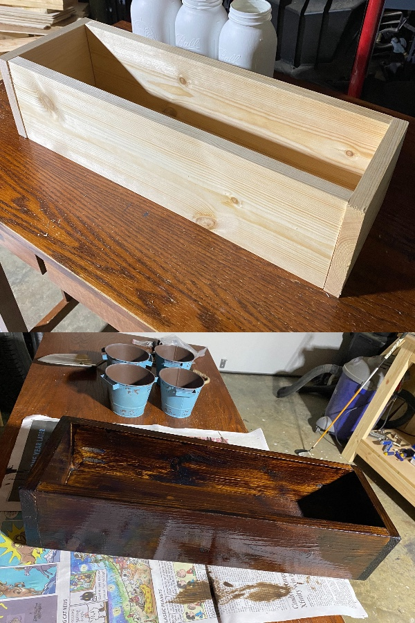 Minwax PolyShades Mission Oak Stain for the DIY Herb Planter Box