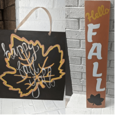 DIY Fall Painted Signs From Scrap Wood