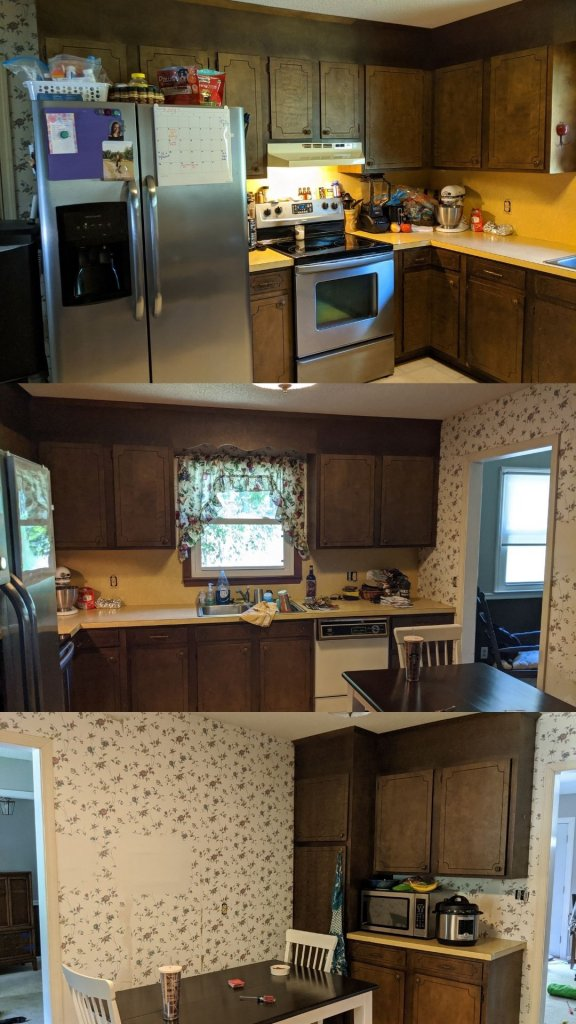 Another look at the before the budget kitchen makeover pictures