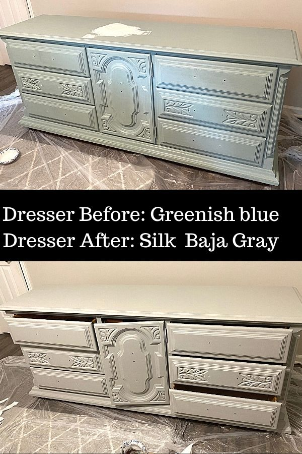Before And After on This Dresser