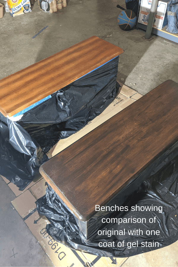 Farm House Table Makeover Bench Seat