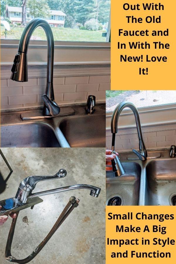 Updated Kitchen Faucet - Budget-Friendly Kitchen Makeover