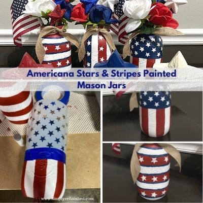 Americana Painted Mason Jars Title Picture