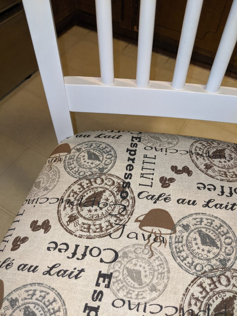 The Coffee Latte Upholstery We Picked Out