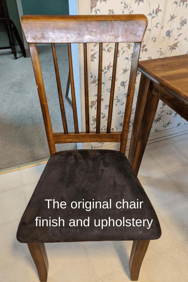 Farm House Table Makeover - Original Chair