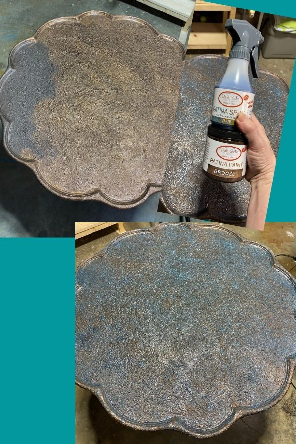 Another Look at the patina finish being created