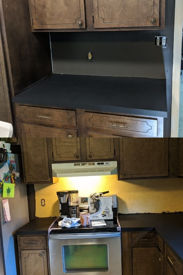 Prepping the Countertops with Primer Paint