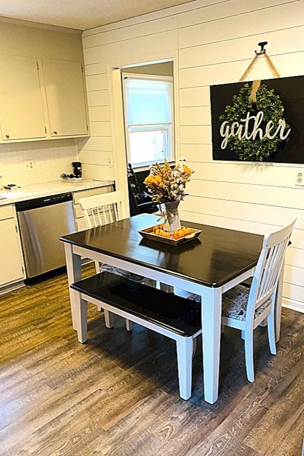 Finished project DIY faux Shiplap Plank Wall