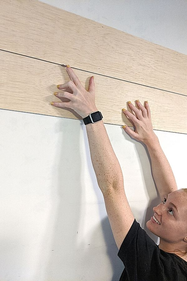 Use a Nickel to space properly between each plank board