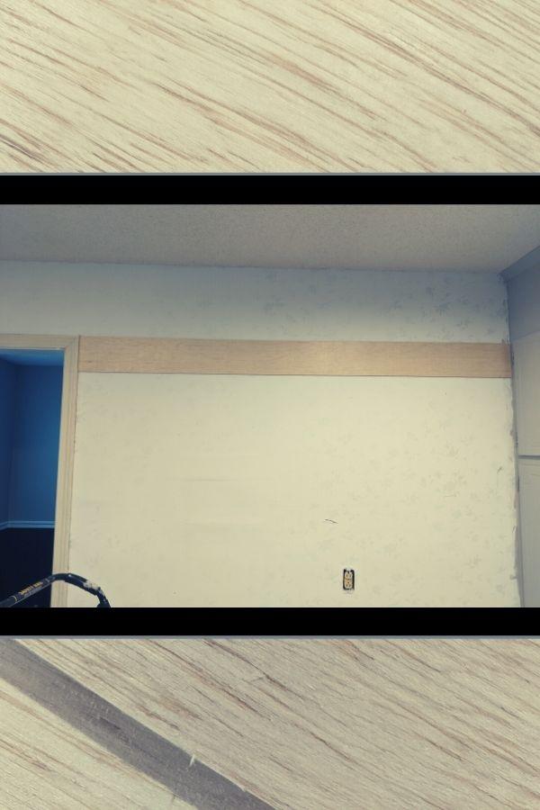 "DIY Plank ""Faux Shiplap"" wall"