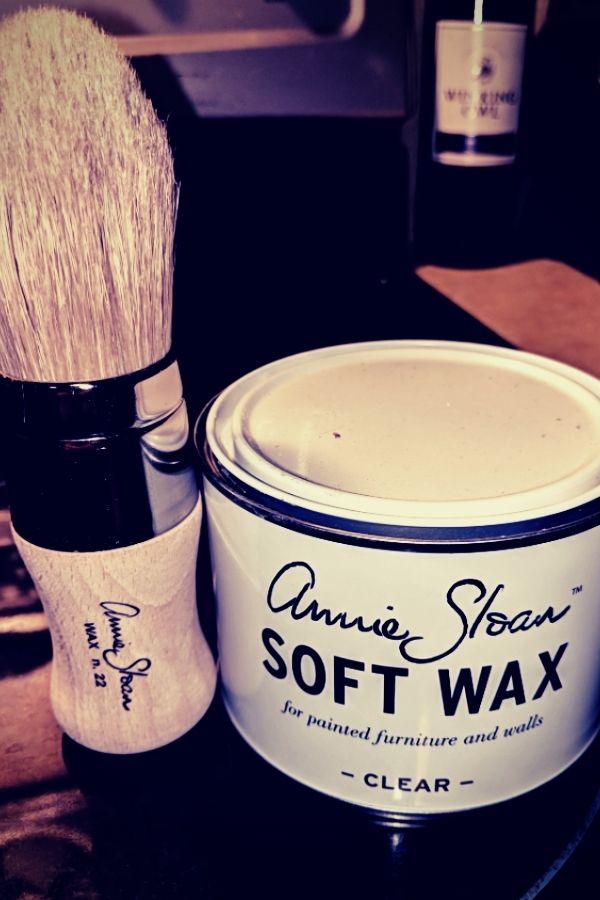 Annie Sloan Soft Wax and Wax Brush