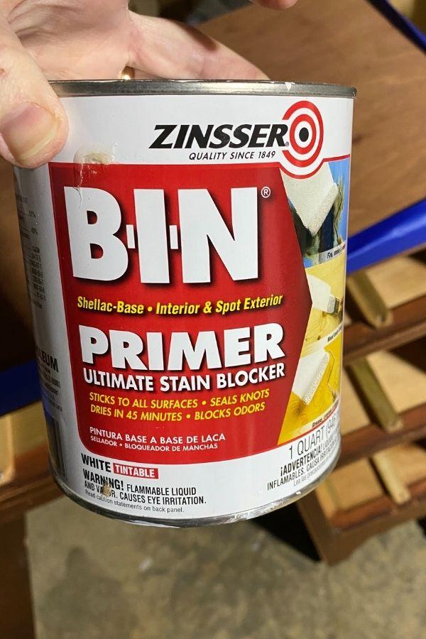 Zinsser BIN Shellac Based White Tint Primer