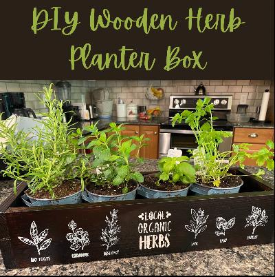 DIY wooden Herb Planter Box