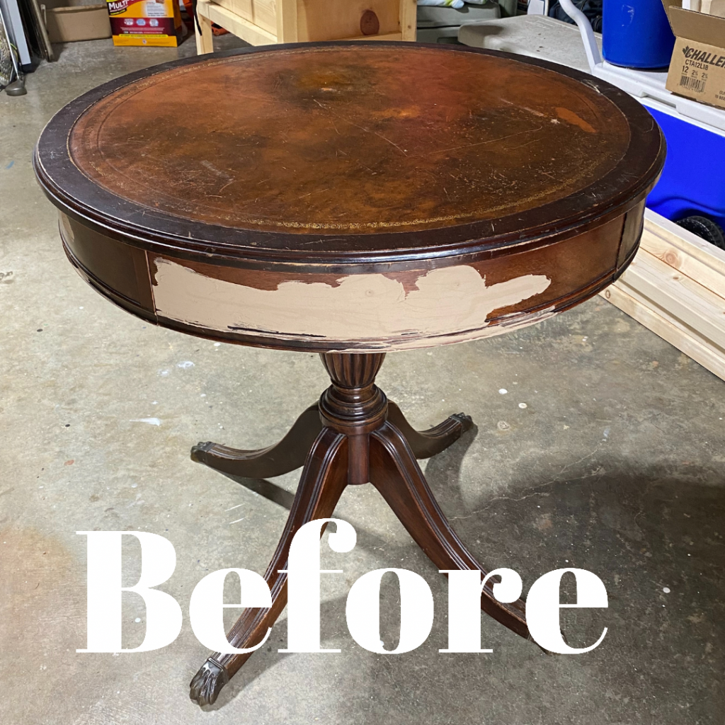 Before The Round Accent Table Makeover
