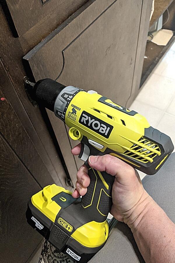 Ryobi Drill To Remove Hardware