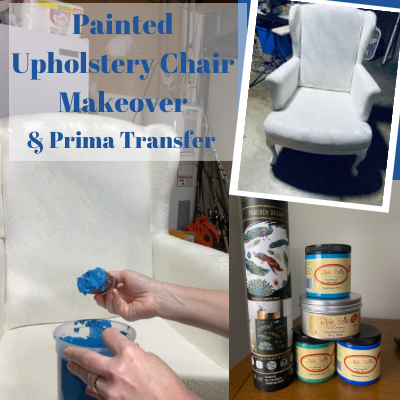 Painted Uphostery Chair With Transfer