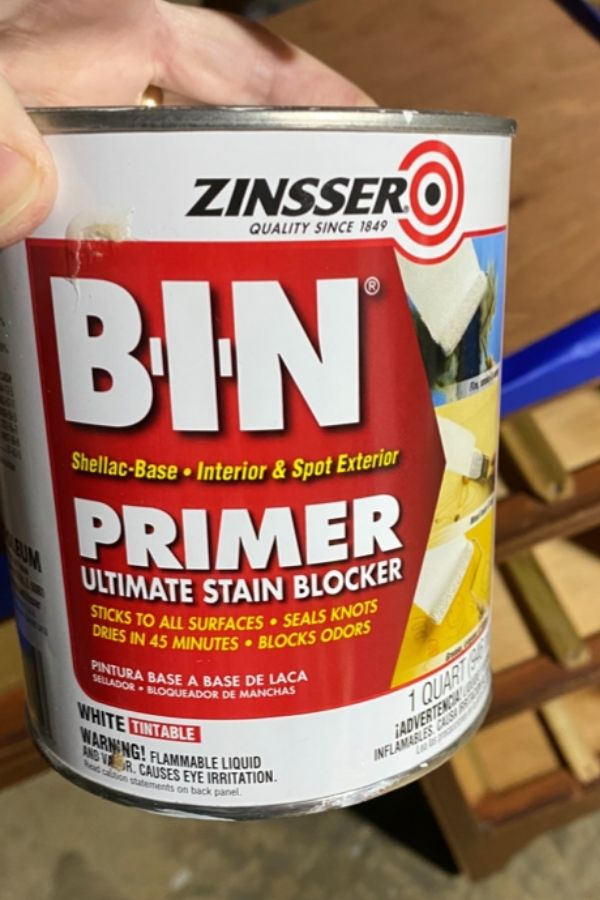 When To Prime & My Top Primer Choices: Zinsser BIN Shellac-Based Primer