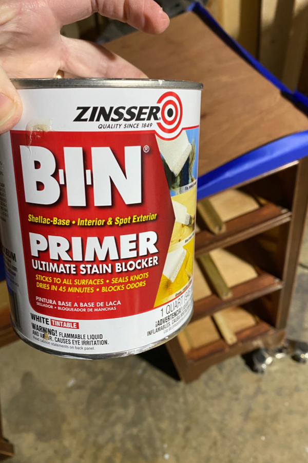 Can of Zinsser BIN Primer in White