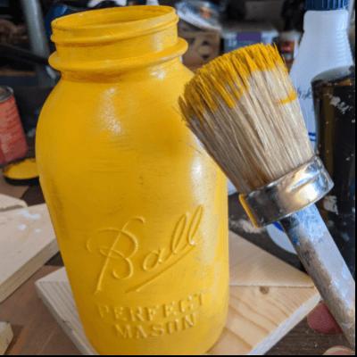 Fall Painted Mason Jar DIY Decor