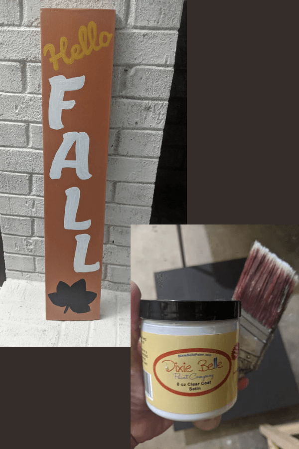DIY Fall Painted Sign with Clear Coat